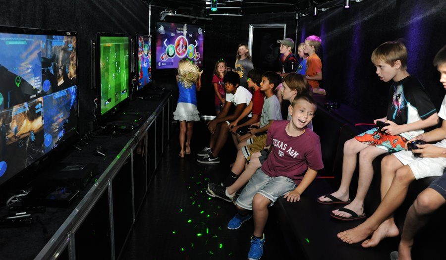 Fun Birthday Party With Our Video Game Truck And Laser Tag